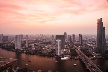 landscape the city name Bangkok, Thailand