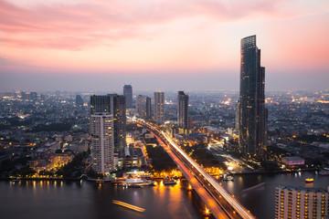The bangkok, Thailand city never sleep