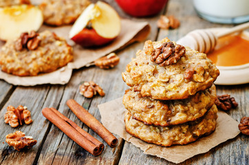 Poster Koekjes apples oats cinnamon cookies