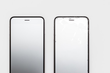Comparing Whole and Broken Screen