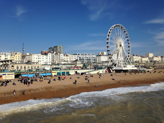 Brighton Pier on a sunny day, United Kingdom
