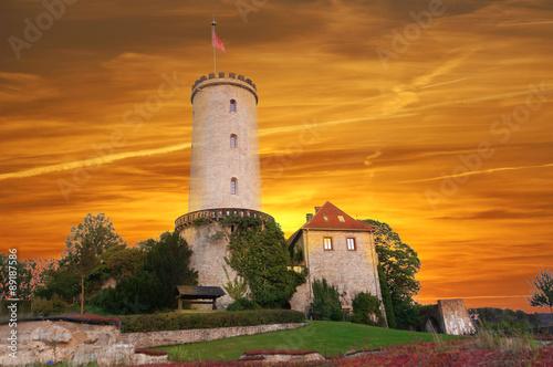 Fototapete Sparrenburg bei Sonnenuntergagng