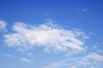 Blue sky and white clouds,Soft white clouds against blue sky