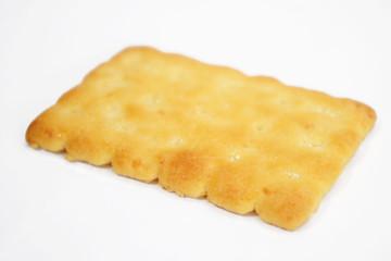 one cracker on white