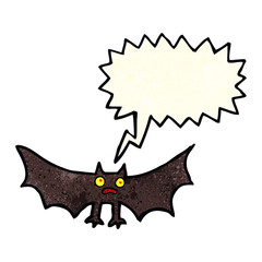 cartoon bat with speech bubble