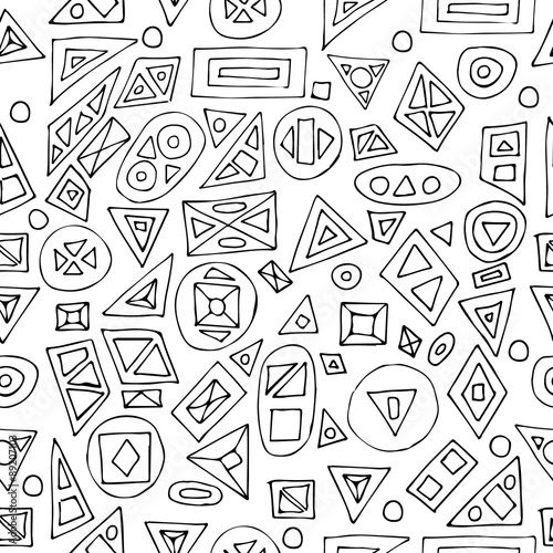Hand drawn zen tangle seamless pattern on white background use for hand drawn zen tangle seamless pattern on white background use for cards invitation stopboris Image collections