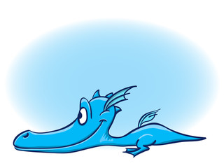 Illustration Of Ccute Cartoon Baby Dragon