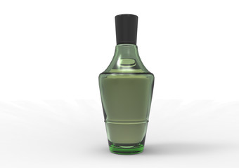 Isolated perfume bottle. Illustration contains transparency and blending effects