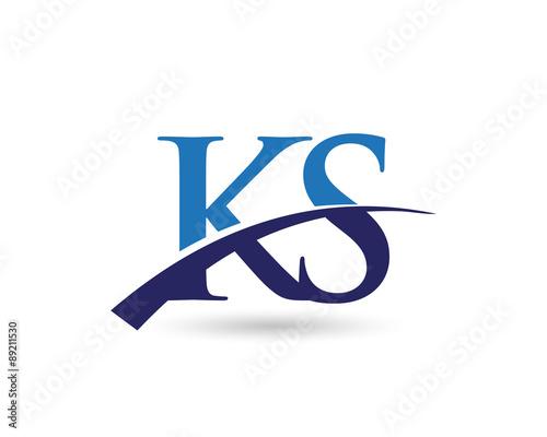 Ks Logo Letter Swoosh