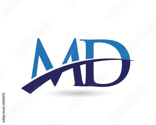 """md logo letter swoosh"" stock image and royaltyfree"