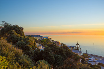 Houses on Olivers Hill overlooking the Mornington Peninsula Suns