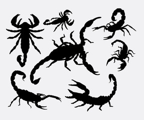 Scorpion animal silhouettes