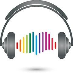 Equalizer, Kopfhörer, Musik Logo, Sound