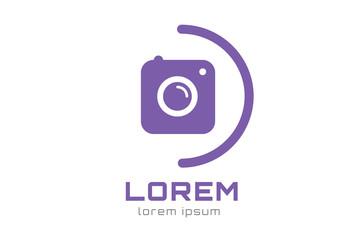 Photo camera logo icon template. Photographer logo, photo image