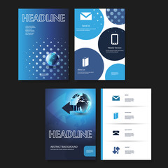 Flyer or Cover Design Template Set - Business, Corporate Identity