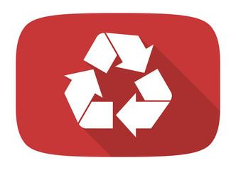 Fototapeta recycle flat design modern icon