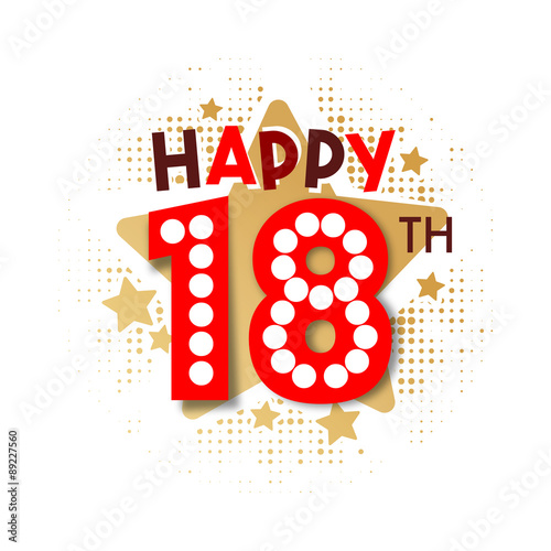 """Happy 18th Birthday"" Stock image and royalty-free vector ..."