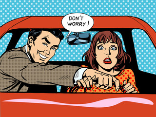 Driving school driver woman car