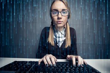 Nerd girl  hacker