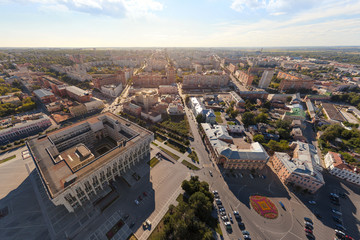 Панорама города с высоты