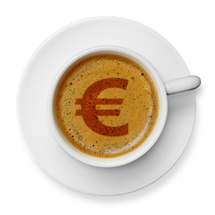 Euro symbol on coffee