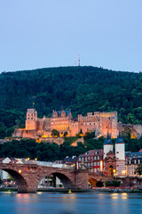 View of Heidelber castle in Germany