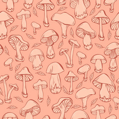 Pattern with mushrooms.