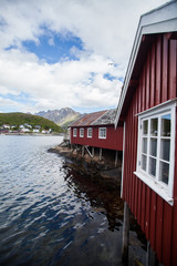 Traditional houses in Lofoten, Norway