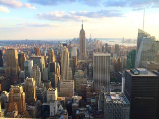 Deurstickers New York New York vista al tramonto da top of the rock