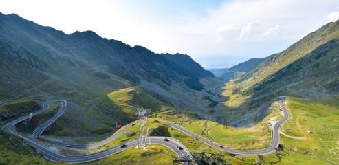 Winding road in mountains, Trans-fagarasan
