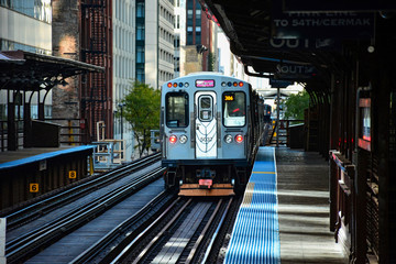 Photo sur Toile Chicago Chicago CTA Train