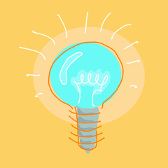 bulb drawings vector design