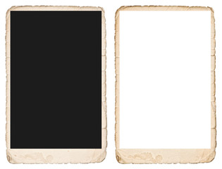 Old photo frame with edges. Mockup for your pictures