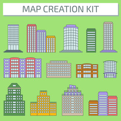 City Map Creation Kit: Create your own custom city plan. Part 2.