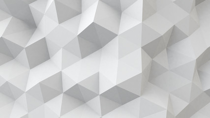 white polygonal geometric surface Wall mural