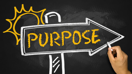 purpose concept on signpost Wall mural