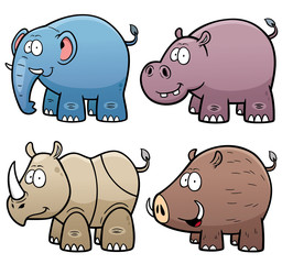 Vector Illustration of Animals set