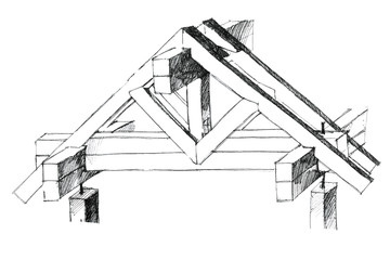 detailed picture of a building elements of a roof as a concept