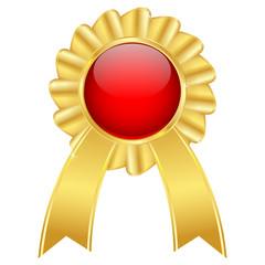 Golden award badge