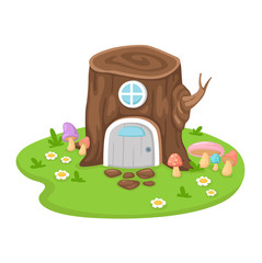 tree house on a white background,vector