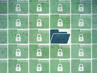 Business concept: folder icon on Digital Paper background