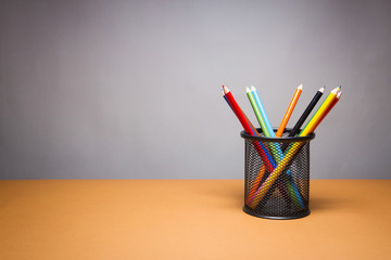 A stack of color pencils