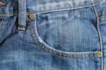 Denim Blue Pocket Closeup
