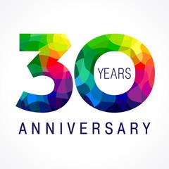 30 anniversary color logo