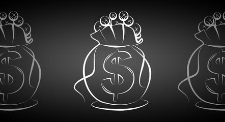 Dollar icon illustration sack