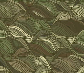 Vector wave background of drawn lines