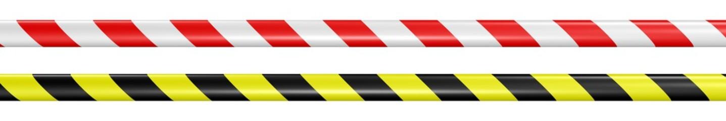 Sperrband in  Rot-Weiß und Schwarz-Gelb