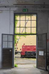 Werkstatttür