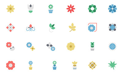 Flowers and Floral Colored Vector Icons 3