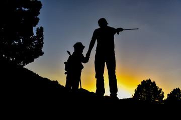 çocuğuna doğayı sevdiren bir baba